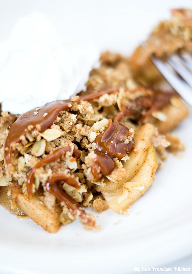 Caramel Apple Crisp Slice