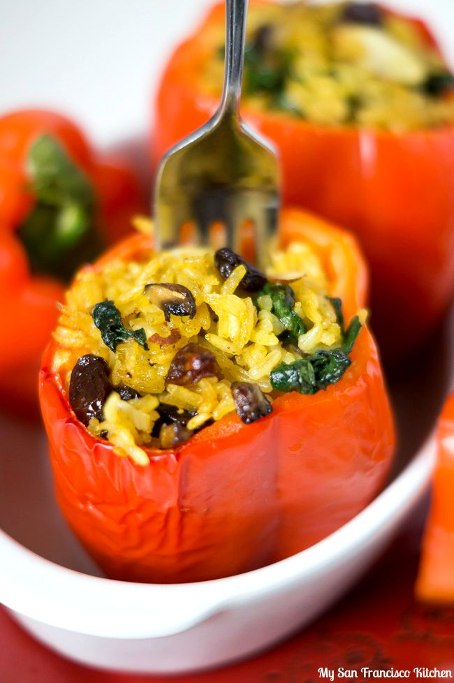 Thai Vegetarian Stuffed Peppers