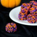 Halloween chocolate avocado truffles