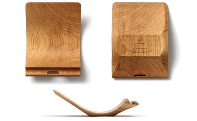 yohann oak ipad stand