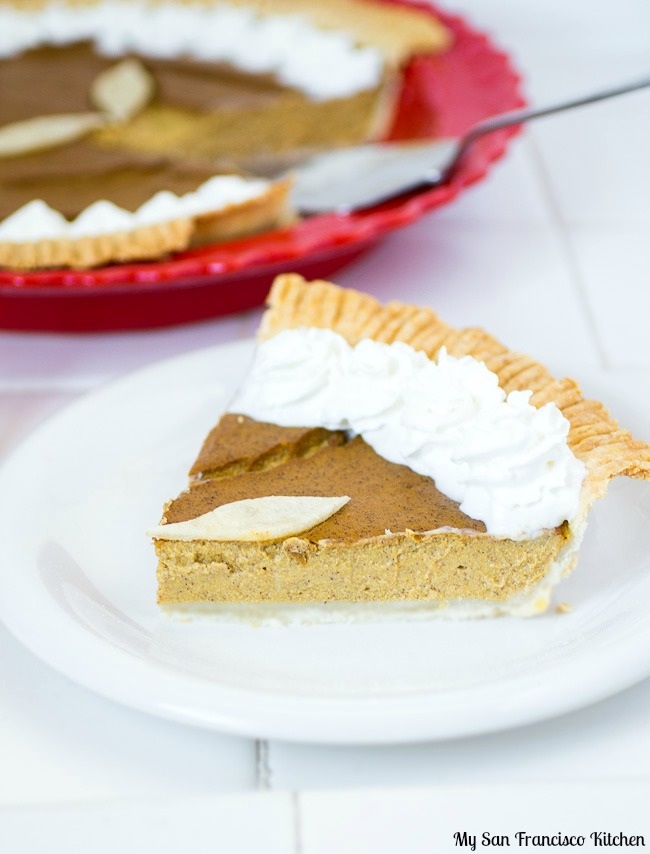 Vegan Pumpkin Pie Slice