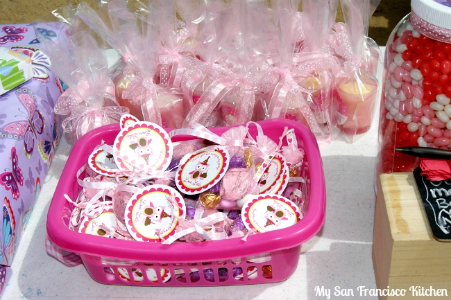 First birthday favors