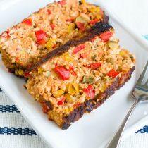 Balsamic-Glazed Summer Vegetable Meatloaf