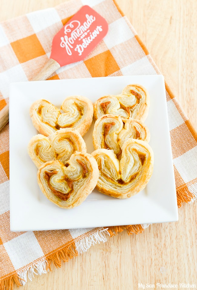 Easy Spiced Pumpkin Palmiers Using Puff Pastry Sheets | My ...