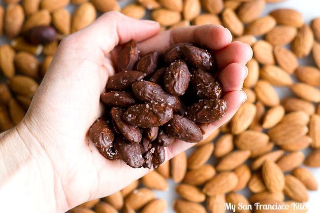 Cherry Dark Chocolate Almonds with Sea Salt