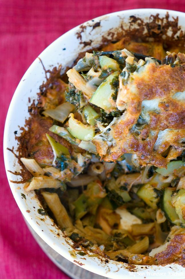 Kale Zucchini Baked Ziti