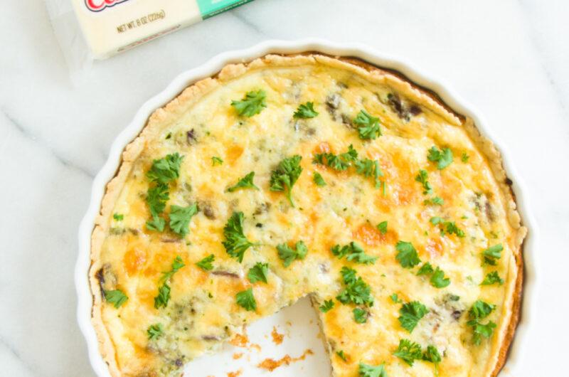 Cheddar Zucchini Quiche