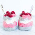 Raspberry Nice Cream Chia Pots
