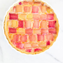 Vegan Lemon Rhubarb Tart