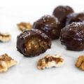 Vegan Chocolate Walnut Date Caramels